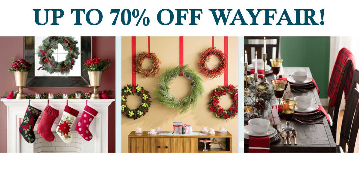 save up to 70 on holiday decor gifts more with wayfair daily deals coupons